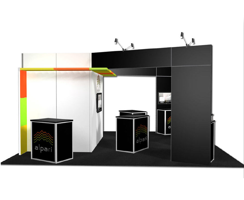 20x20 trade show exhibit rental
